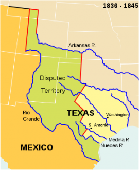 Summary Of The War Manifest Destiny And The Mexican American War - Us-map-before-mexican-american-war